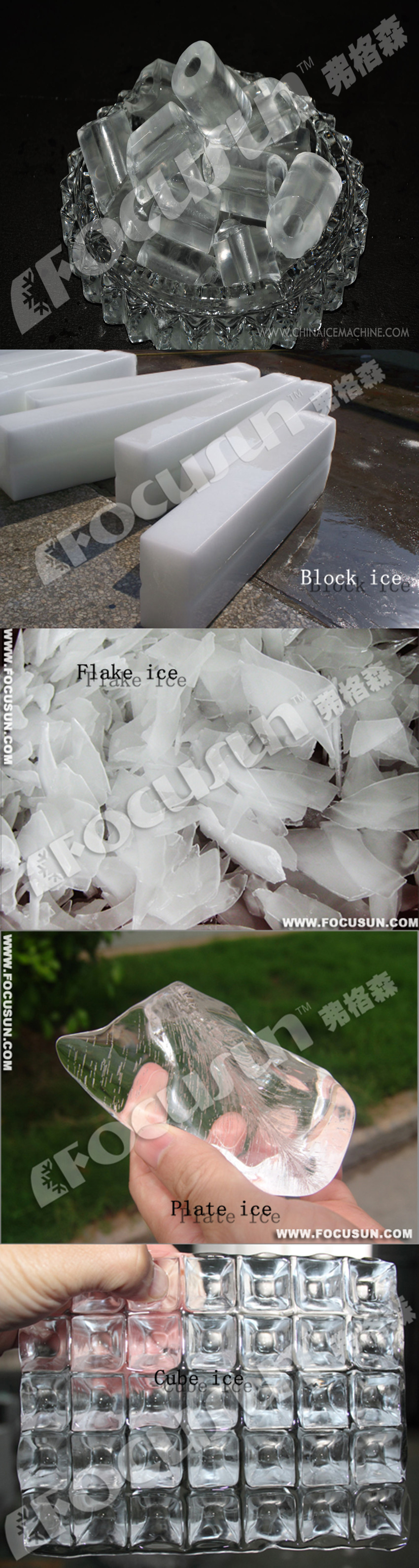 5 different forms of ice