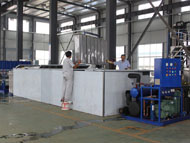 Tube ice maker in factory