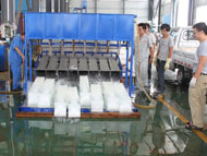 Ice thawing process of block ice machine