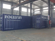 Containerized brine system block ice machine