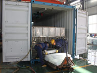 Containerized brine system ice block plant