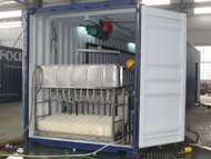 Containerized brine system ice block making plant