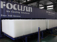 Direct system block ice making machine in container_1