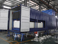 Direct system block ice making machine in container_2