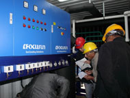 Direct system block ice making machine in container_5