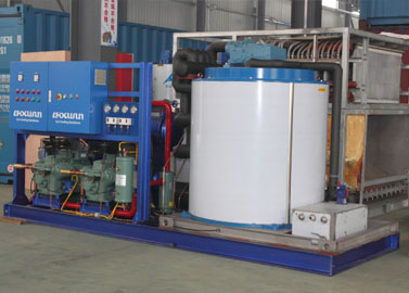 Salt water ice flaker machine
