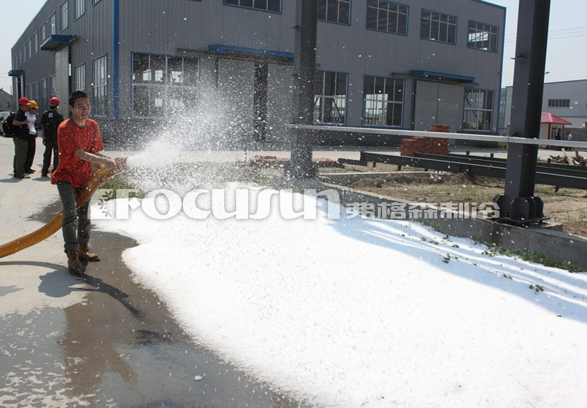 Artificial snow making system ice
