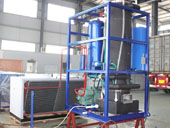 High efficiency tube ice plant